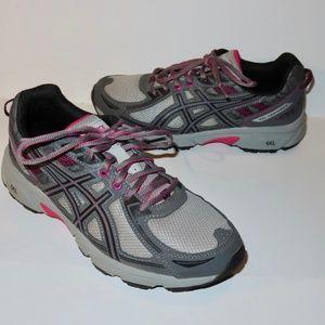 Asics Gel Venture 6 Size 10 Grey Pink